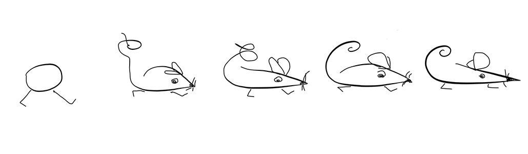 Das kleine Loch zieht mit den Mäusen aus dem Haus