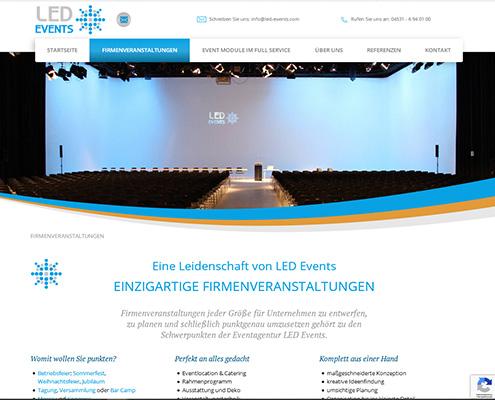 U E Herwig: Referenz Website LED Events Redaktion